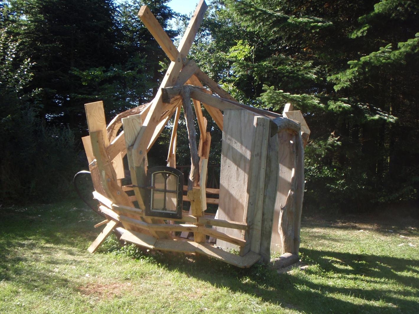 redskabsrum med drivhus
