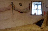 Indenfor i saunaen